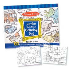 Jumbo Coloring Pad in Blue (Set of 2)