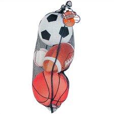 Plush Sports Balls in a Mesh Bag