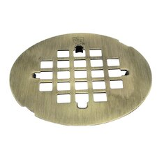 Snap-In Strainer Grid Shower Drain