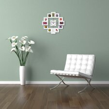 """Time Capsule 15.75"""" Picture Frame Wall Clock"""