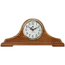 Oak Tambour Mantel Clock