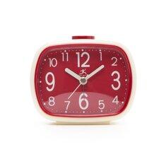 That 70's Retro Alarm Clock in Cream with Red Face
