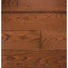 """Wide Plank 7"""" Engineered Oak Hardwood Flooring in Gunstock"""