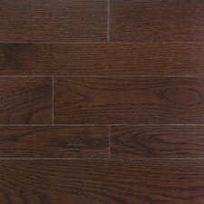"""Homestyle 3-1/4"""" Solid White Oak Hardwood Flooring in Metro Brown"""
