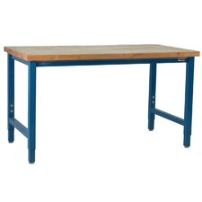 Kennedy Height Adjustable Solid Maple Top Workbench