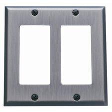 Classic Square Bevel Design Double GFCI Switch Plate