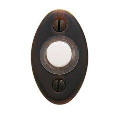 """2"""" x 1.125"""" Oval Doorbell Button"""
