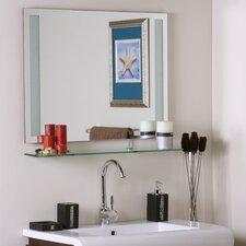Frameless Roxi Wall Mirror with shelf