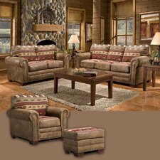 Sierra Lodge 4 Piece Living Room Set with Sleeper Sofa