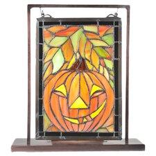 Jack O'Lantern Lighted Mini Tabletop Window Table Lamp