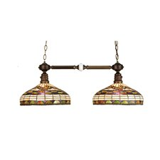 Tiffany Edwardian 2 Light Kitchen Island Pendant