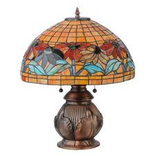"Black Eyed Susan 19.5"" H Table Lamp with Bowl Shade"