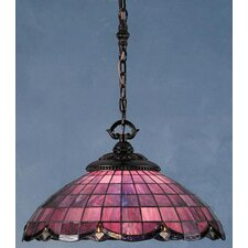 Victorian Nouveau 1 Light Bowl Pendant