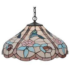 Tiffany 1 Light Hummingbird Bowl Pendant