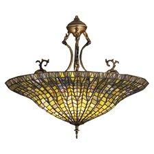Tiffany Lotus 3 Light Inverted Pendant