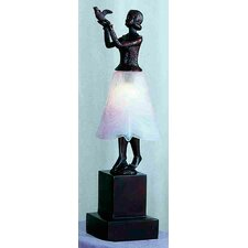 "Silhouette Lady with Dove 16"" H Table Lamp with Bell Shade"