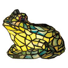 "Frog Tiffany 7"" H Table Lamp with Novelty Shade"