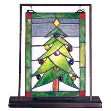 Christmas Tree Lighted Mini Tabletop Window Table Lamp
