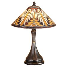 "Nuevo Mission 18"" H Accent Table Lamp with Bowl Shade"