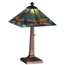 "Prairie Animals Dragonfly 21"" H Table Lamp with Square Shade"