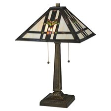 "Prairie Southwest Wheat 22"" H Table Lamp with Square Shade"