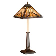 "Nuevo Mission Buffet 24.5"" H Table Lamp with Square Shade"