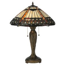 "Cleopatra 25"" H Table Lamp with Cone Shade"
