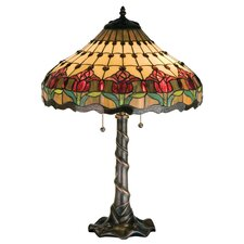 "Colonial Tulip 25.5"" H Table Lamp with Cone Shade"