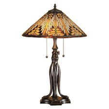 "Nuevo Mission 25.5"" H Table Lamp with Bowl Shade"