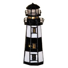 """Montauk Point Lighthouse 9.5"""" H Table Lamp with Novelty Shade"""