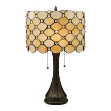Tiffany Gothic Giacomo Table Lamp  with Drum Shade