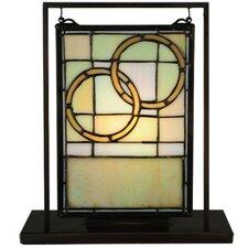 "Wedding Mini Tabletop Window 10.5"" H Table Lamp with Rectangular Shade"