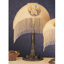 """Reverse Painted Roses 15"""" H Table Lamp with Bowl Shade"""