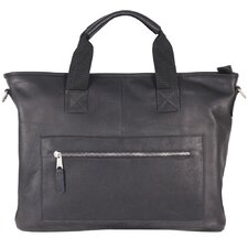 New Orleans Leather Laptop Briefcase