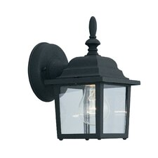 Budget Cast Aluminum 1 Light Wall Lantern