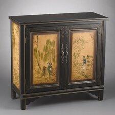 2 Door Cabinet with Oriental Lady Design