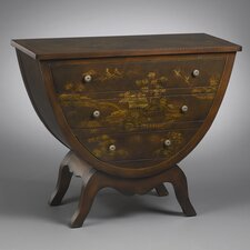 3 Drawer Hour Glass Shaped Chest