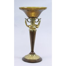 Bowl Brass / Glass Hurricane