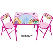 Princess The True Princess Within Erasable Kids Square Activity Table Set
