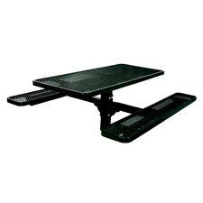 Single Pedestal Inground Picnic Table with Diamond Pattern
