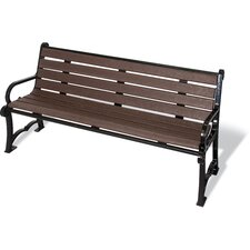 UltraSite Charleston Series Recycled Plastic Bench