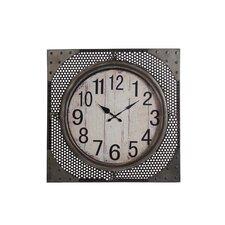 "Oversized 28"" Iron Wall Clock"