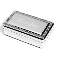 Personalized Sterling Silver Jewelry Box