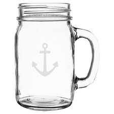 Anchor Old Fashioned Drinking Jar (Set of 4)