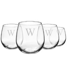 Personalized Stemless Red Wine Glass (Set of 4)