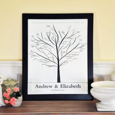 Family Tree Canvas Signature Guest Book