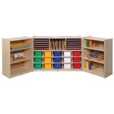 Folding 38 Compartment Cubby