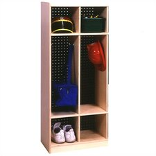 1 Tier 2-Section Locker