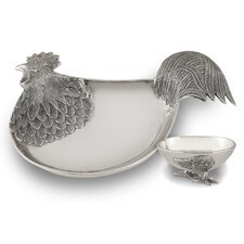 Rooster Chip and Dip Tray
