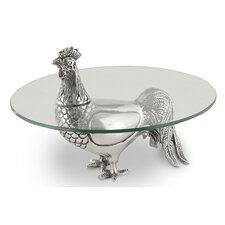 Rooster Serving Pedestal